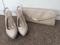 Ladies heels and clutch bag