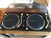 2x Pioneer PLX 1000 DJ Turntables Decks - V good condition ( Technics 1210 1200 Replacement)