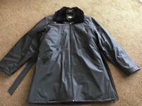 BLACK SHOWERPROOF COAT GENEROUS SIZE 16