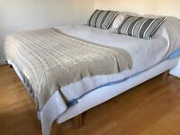 Double bed for only £140. Natural color (IKEA) Original price was £420 for entire set