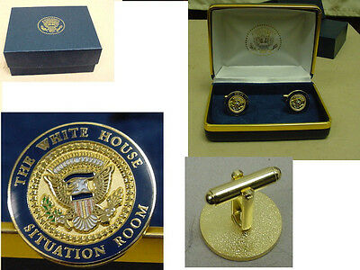 Presidential White House Situation Room cufflinks.