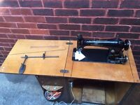 Singer Sewing Machine in Cupboard / Desk