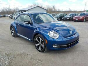 2012 VW NEW BEETLE 47,000KM 6SP. $14700 CERT.