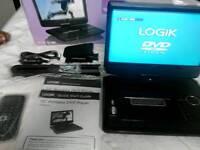 "10"" Logic portable DVD player."