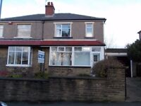 A fantastic three bedroom unfurnished semi detached house in Eccleshill village