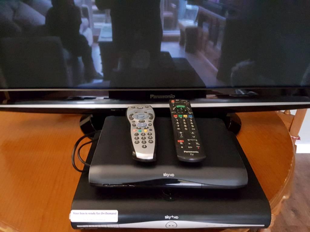 Panasonic HD tv and sky HD BOX AND MULTI ROOM