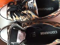 Ladies leopard print converse trainers