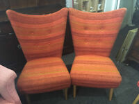 Fabulous Pair of Mid Century Vintage Retro Cocktail Chairs 1950s 1960s
