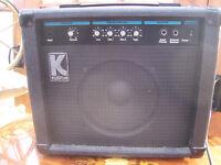 Kustom KBA20 Electric Bass Guitar Amplifier.