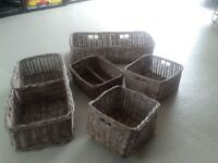Set of heavy duty baskets