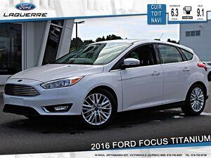 2016 Ford Focus **TITANIUM*CUIR*TOIT*NAV*CAMERA*A/C 2 ZONES**