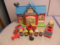 ELC Happyland Fire Station Fire Engine Fireman Bundle with Lights & Sounds! CAN POST
