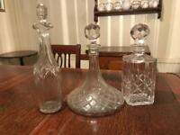 Glass decanters x4