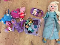 Toys for Girl (Disney Princess Elsa,Jasmine, Doc Mcstuffins,Stuffy , Peppa,Furchester Hotel Phoebe)