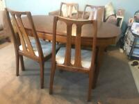 Teak Nathan Extending Dining Table and 4 Chair R478