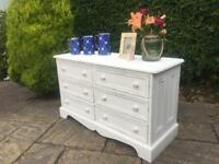 Solid PINE chest of drawers WOOD shabby chic CHALK PAINT