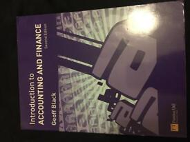 Introduction to accounting and finance textbook