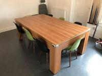 Full size slate bed Walnut Pool/Dining Table