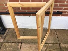 Window frames for shed or summer house