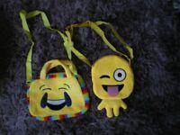 Emoji cross shoulder strap bags for kids