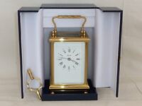 Superb Angelus 8 Day Bell Strike Large Solid Brass Carriage Clock