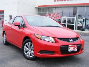 2012 Honda Civic LX  | LOW MILLEAGE | ONE OWNER |