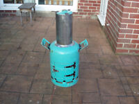 chimnea made from gas bottle