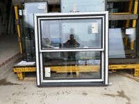 Double/Single Anthracite/White miss measured glazed sliding Sash windows from Synseal Free local del