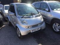 smart city passion 2003 03 plate auto 70k service history mot alloy wheels