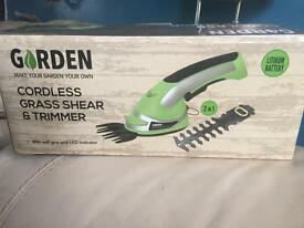 Cordless grass shear and trimmer