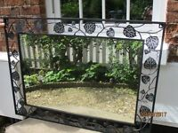 Mirror with wrought iron surround - sitting room etc