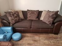 3 seater settee and 2 seater snug chair, immaculate condition. Duck feather cushions
