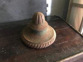 Vintage cow tail pump lids