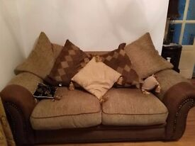 Double Seated Sofa in Excellent Condition £200