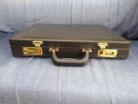 Used Combination Black Leather Briefcase