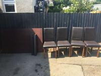 TABLE AND 4 CHAIRS ** FREE DELIVERY IS AVAILABLE **