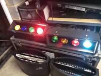 4 / 8 Way Retro pair 2 of Dj Disco Traffic Light Effect Unit SoundLab Red Green Blue Amber RGB RGBA