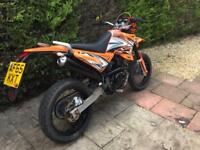 2015 sinnis Apache 125cc supermoto 9 months mot ready to ride