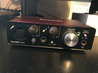 Focusrite Scarlett Solo (2nd Gen) USB Audio Interface [USED] [Without Original Box]