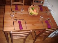 Wooden Dinning Table and Chairs