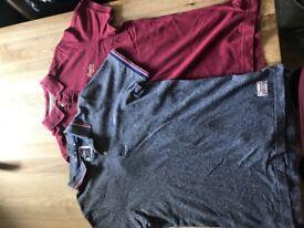 2 Mens Superdry T-Shirts Size Medium