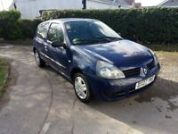 2007, 07 Plate Renault Clio 1.2 Campus. Brand New MOT, Any test or trial £695 ono.