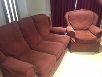FREE - Red - Three Seater Sofa and Armchair