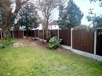 FENCING, Fence Supply and Fitting ONLY £89 !!! Close board fence panel set with installation