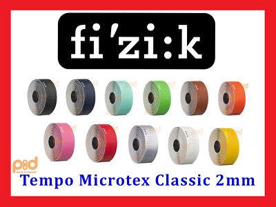 Fizik Tempo Microtex Classic 2mm Bike Handlebar Bar Tape Black Red Green (Fizik Tape)