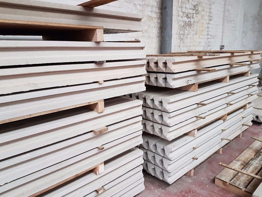 🌟 Manufactured On Site Superb Quality Concrete Fence Posts / Gravel Boards