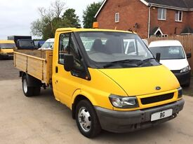 FORD TRANSIT + OTHER MAKE TIPPERS FOR SALE, SINGLE AND DOUBLE CAB MODELS,ALL 1 OWNER VEHICLES.