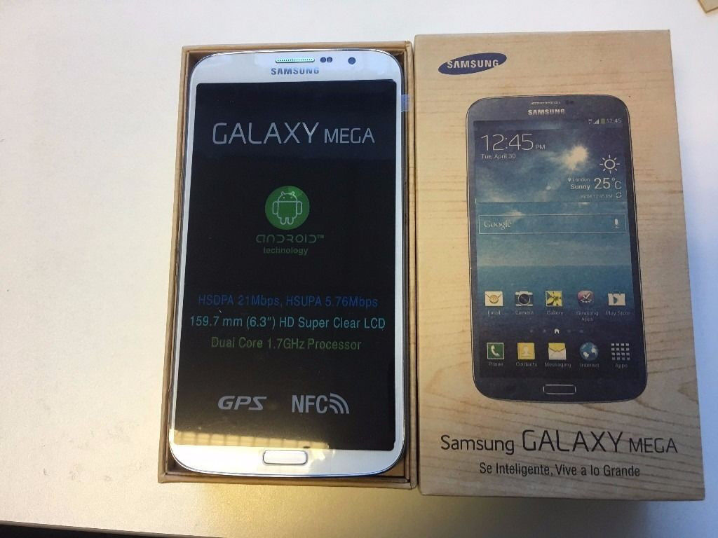 Samsung Galaxy Mega GT-i9200 in a Box with all the Accessories - SIM FREE UNLOCKED To All Networks