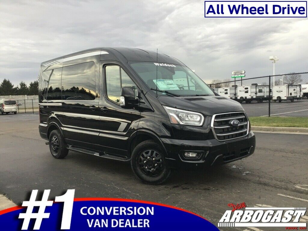 2020 Ford Conversion Van Waldoch 25 Miles Black Hi-Top V6 10-Speed Automatic wit