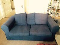 Marine blue 2 seater sofa